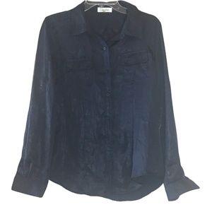 Calvin Klein dark blue long sleeve shirt